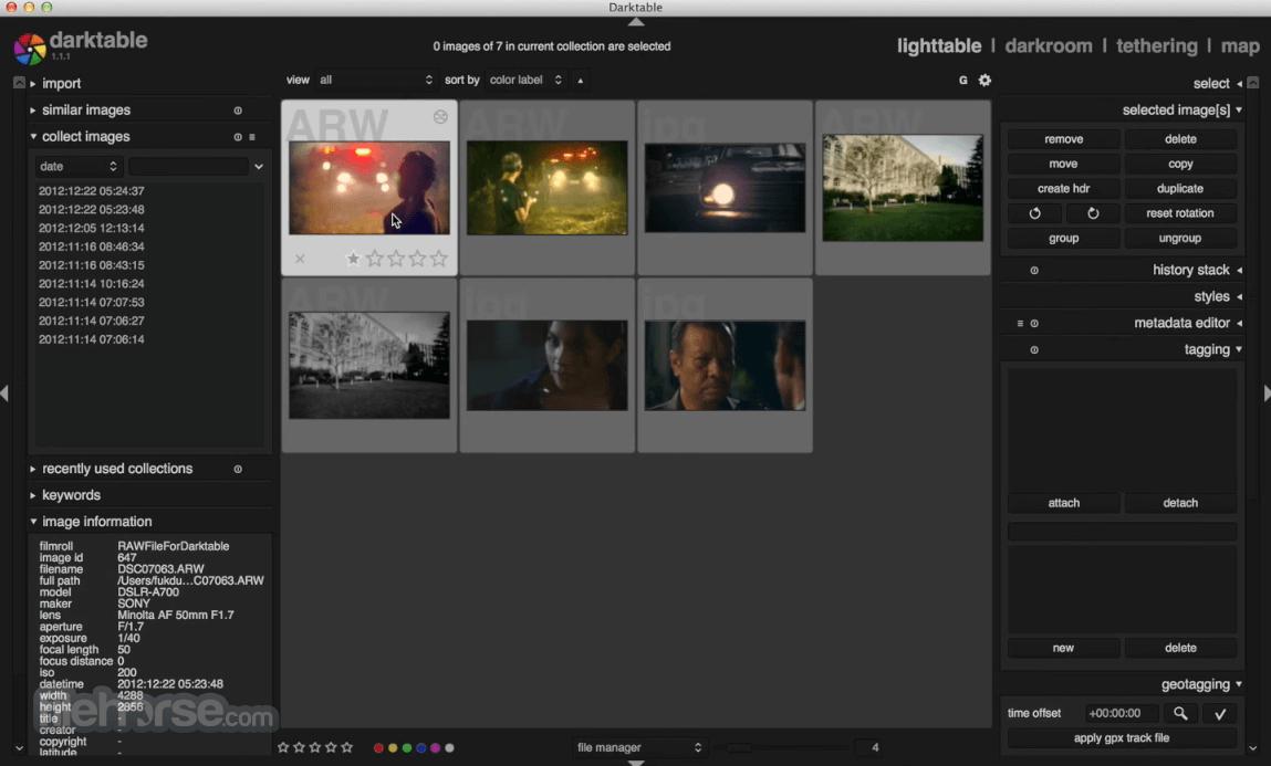 Darktable 3.2.1 Captura de Pantalla 1
