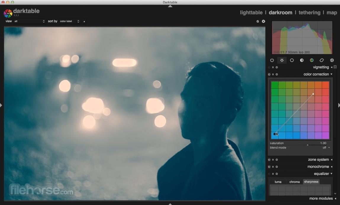 Darktable 3.2.1 Captura de Pantalla 3