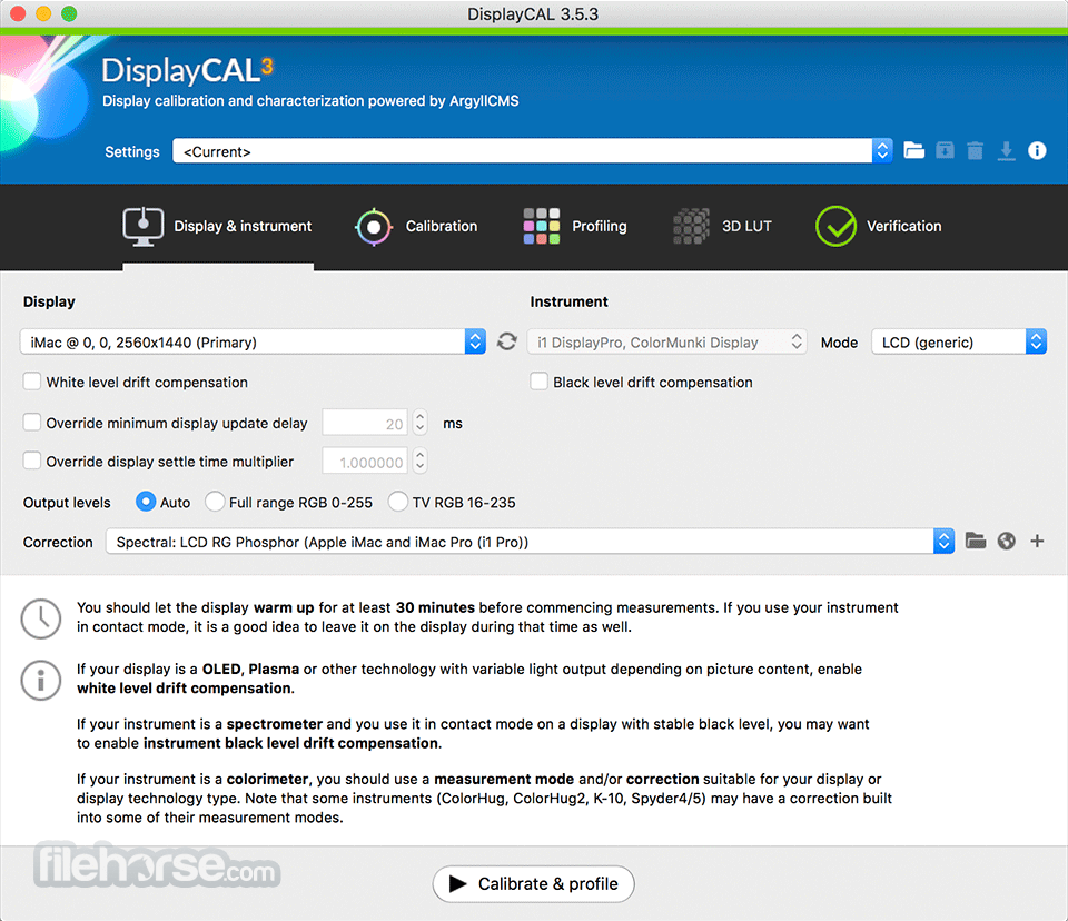 DisplayCAL 3.8.9.3 Screenshot 1