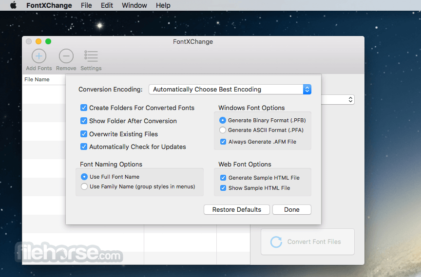FontXChange 5.3 Screenshot 2