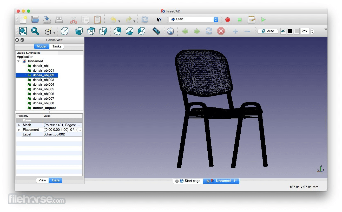 FreeCAD 0.14 Captura de Pantalla 1