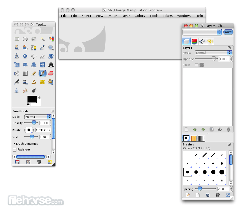 GIMP 2.6.7 Screenshot 1
