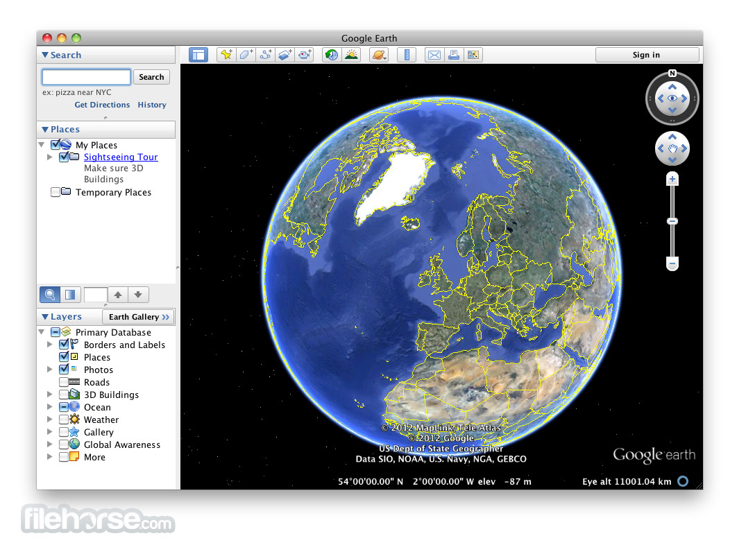 Google Earth 7.3.1.4507 Screenshot 1