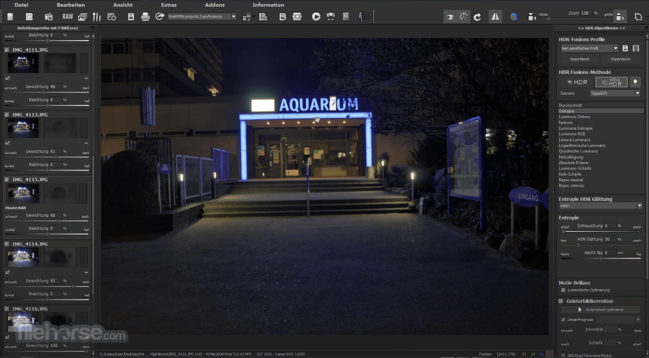 HDR projects 7.23.03465 Screenshot 2