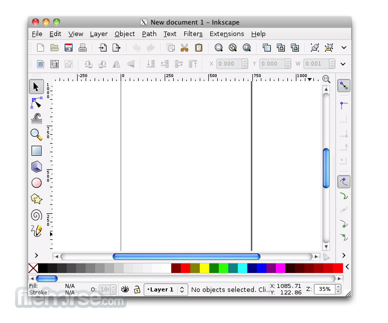 Inkscape 0.48.5 Screenshot 1