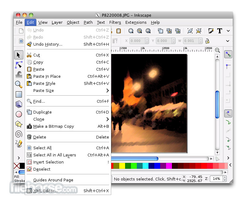 Inkscape 0.43 Screenshot 3