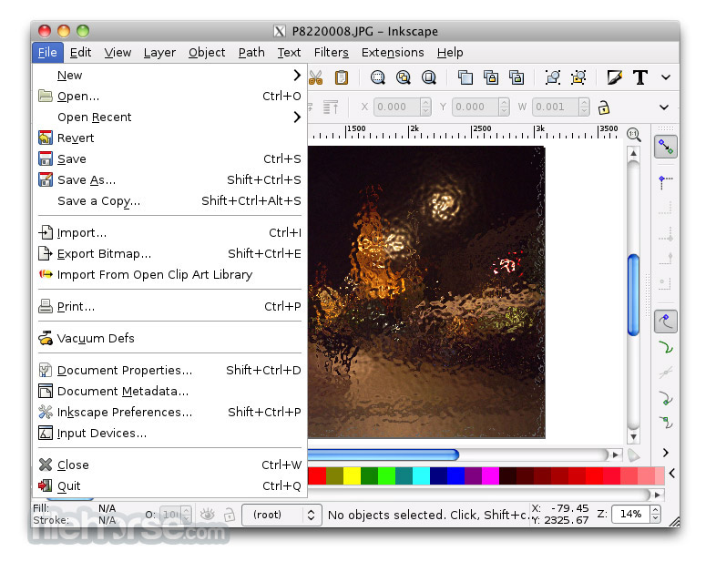 Inkscape 0.43 Screenshot 4