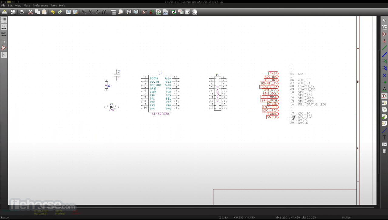 KiCad 5.1.7 Screenshot 2