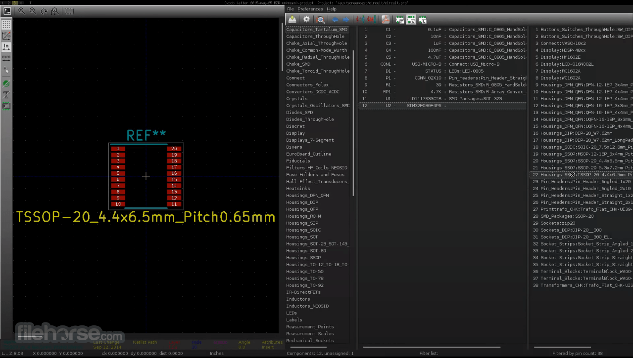 KiCad 5.1.7 Screenshot 3