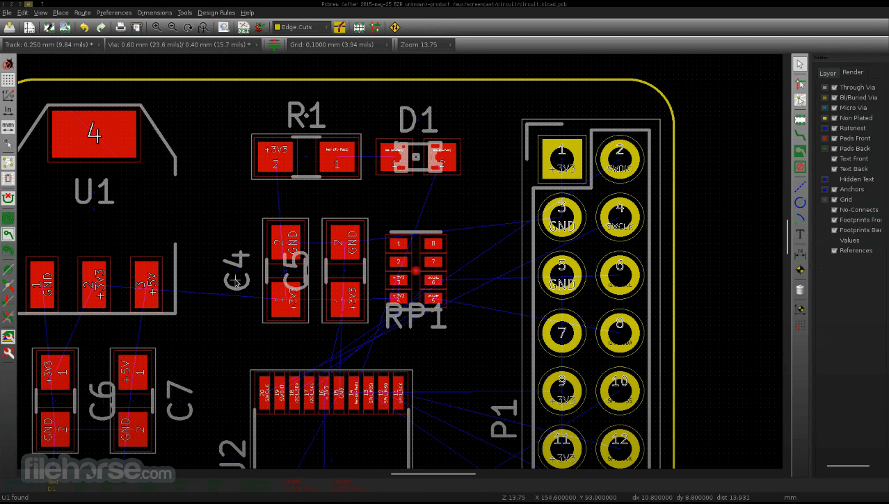 KiCad 5.1.7 Screenshot 4