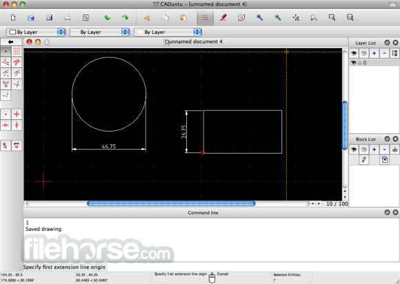 LibreCAD 1.0.4 Screenshot 1
