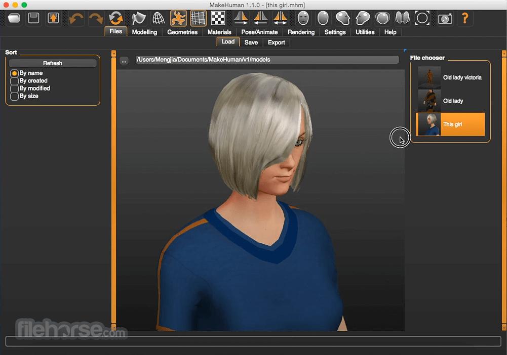 MakeHuman 1.1.1 Screenshot 2