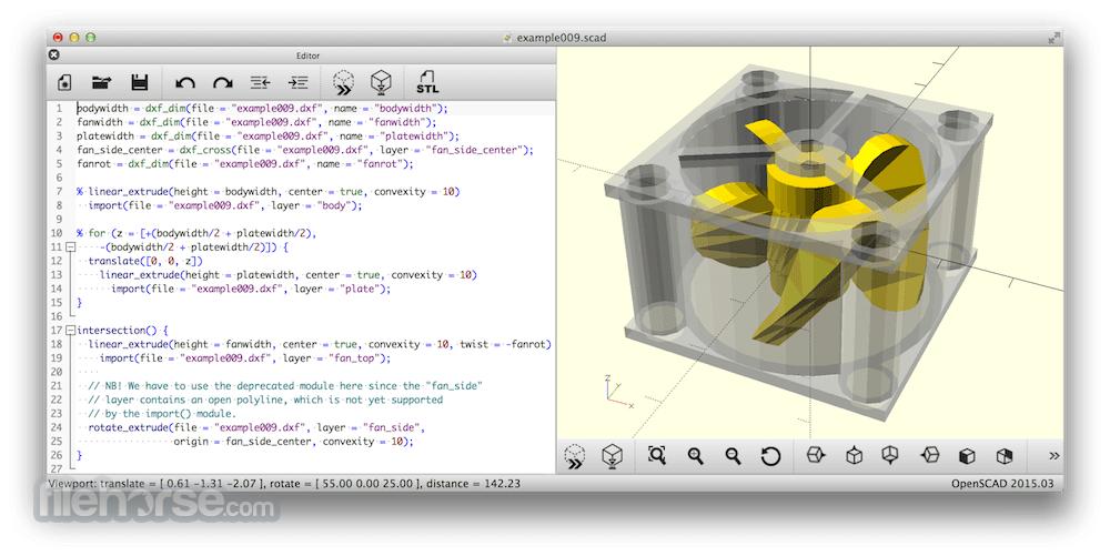 OpenSCAD 2021.01 Screenshot 1