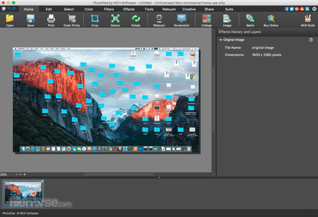 PhotoPad Photo and Image Editor 7.11 Screenshot 1
