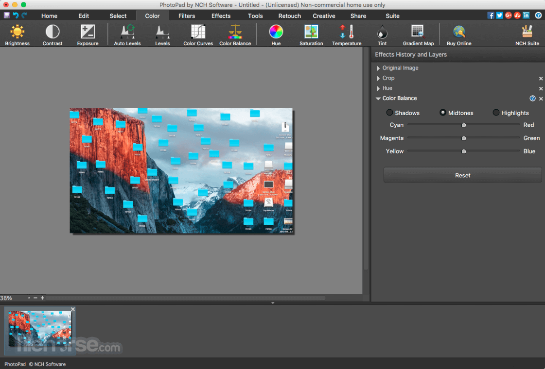 PhotoPad Photo and Image Editor 7.11 Screenshot 3