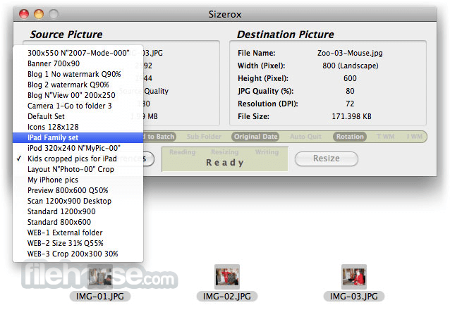 Sizerox 1.4.4.4 Screenshot 3