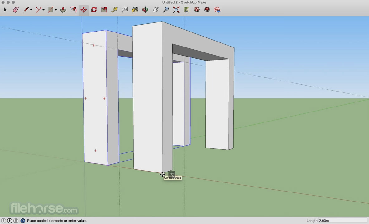 SketchUp Make 17.2.2554 Screenshot 1