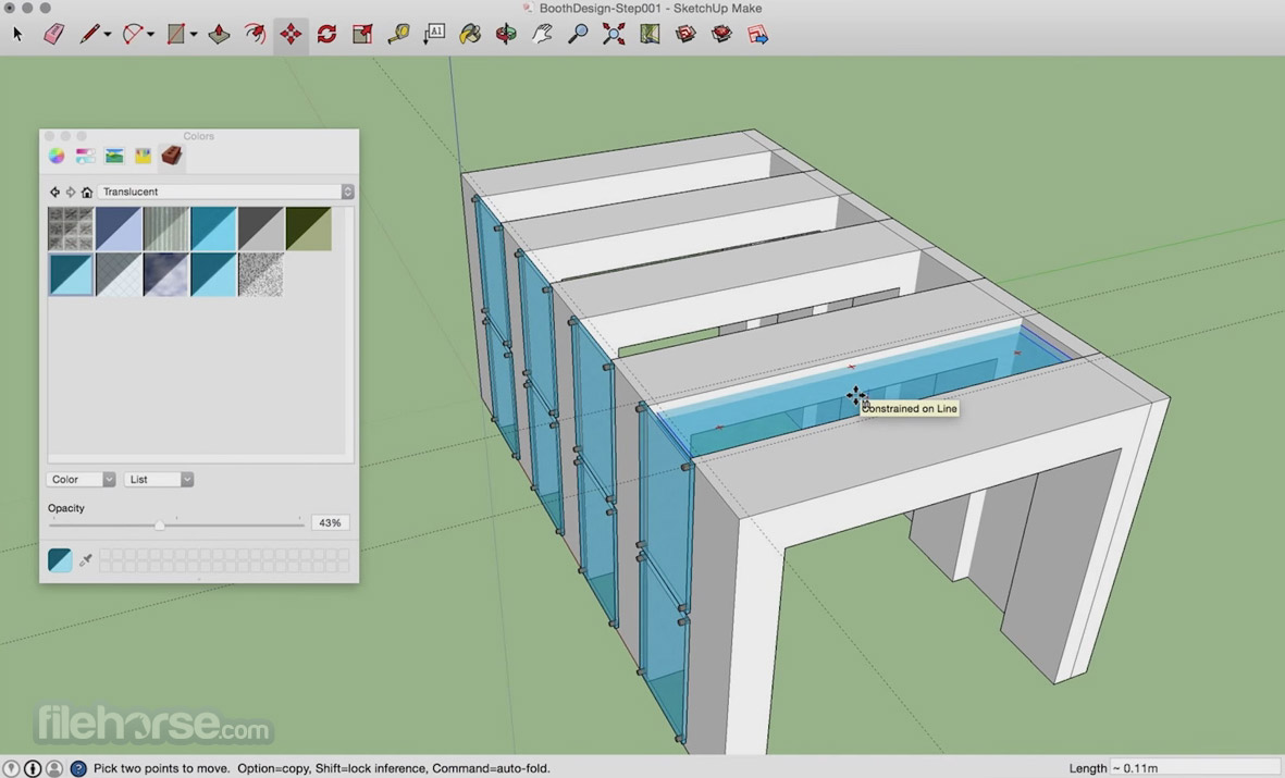 SketchUp Make 16.1.1451 Screenshot 2