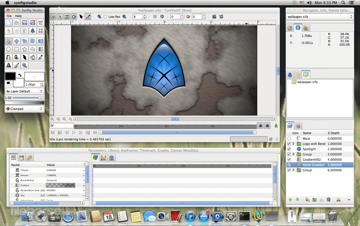 Synfig Studio 1.2.2 Captura de Pantalla 1