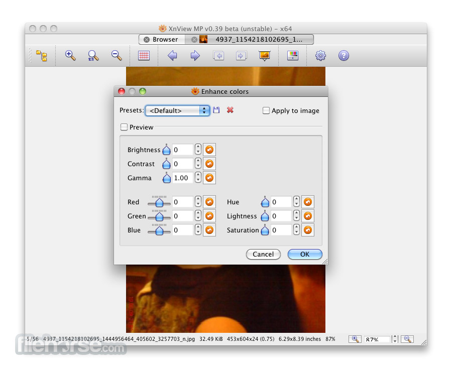 XnView MP 0.87 Screenshot 4