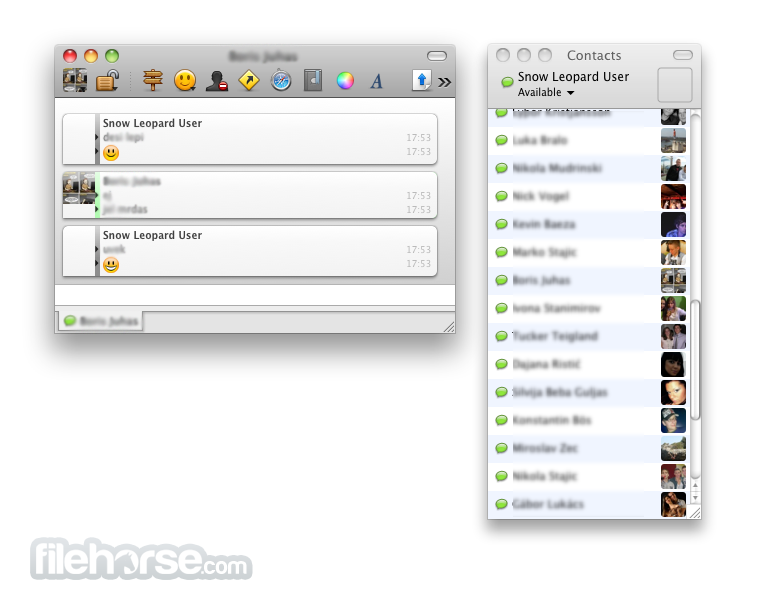 Adium 0.50 Screenshot 1