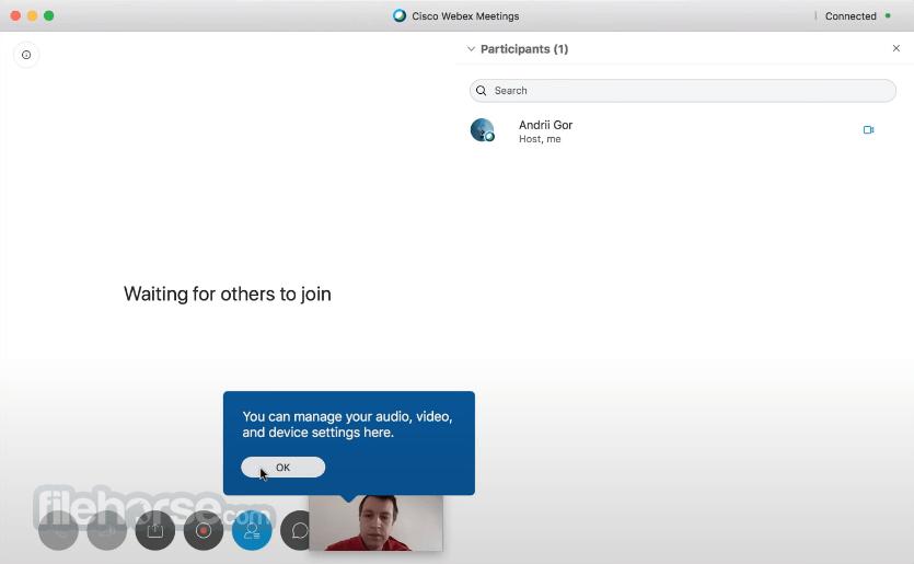 Cisco Webex Meetings 3.0.15131.0 Captura de Pantalla 2