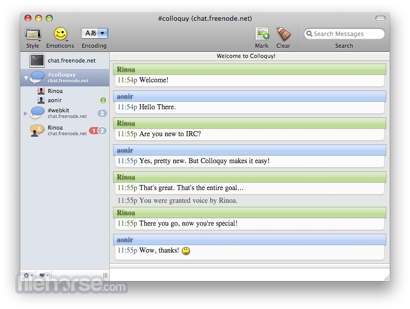 Colloquy 2.2.2 Screenshot 1