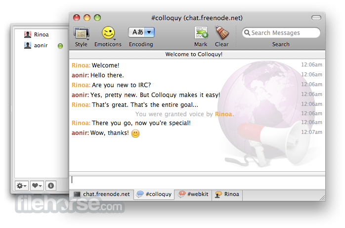 Colloquy 2.2.2 Screenshot 2