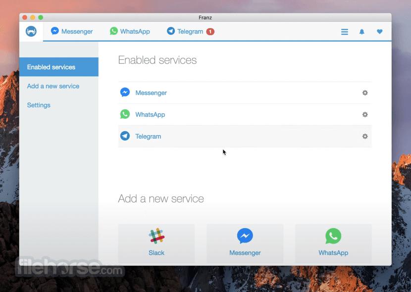 Franz 5.5.0 Screenshot 3