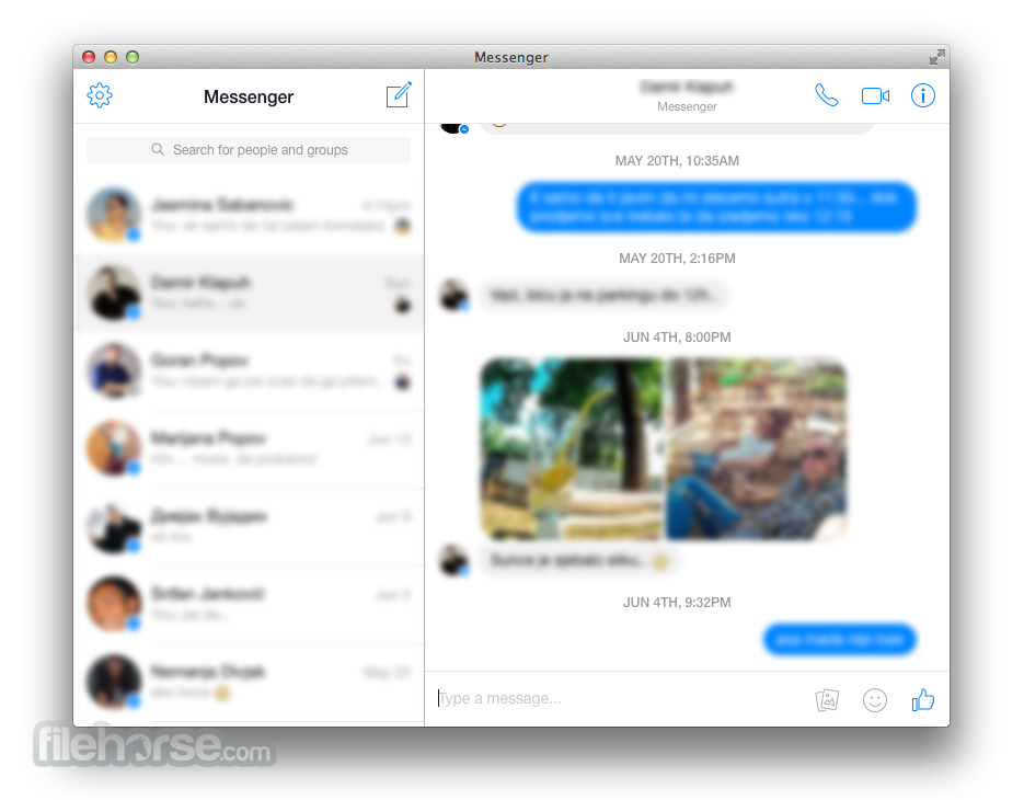 Messenger for Desktop 1.4.1 Screenshot 2