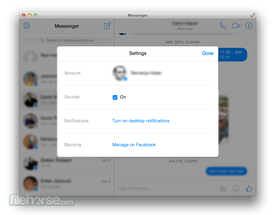 Messenger for Desktop 1.4.1 Screenshot 3