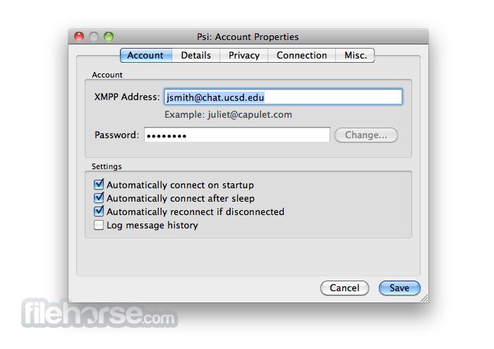 Psi 0.9.1 Screenshot 2