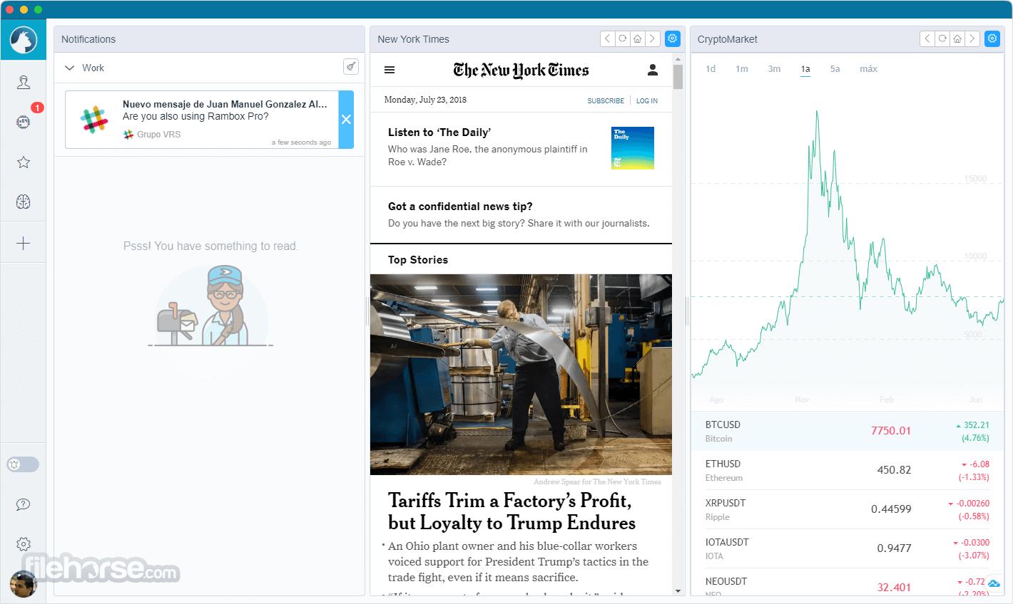 Rambox 0.7.5 Screenshot 2