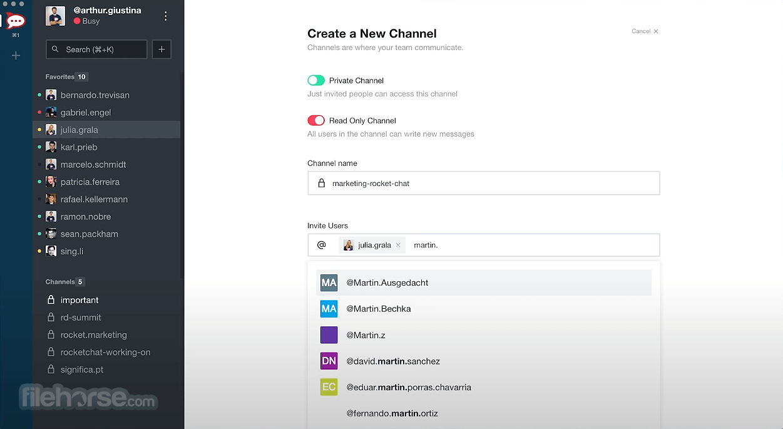 Rocket.Chat 3.5.7 Screenshot 1