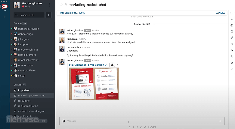 Rocket.Chat 3.5.7 Screenshot 2