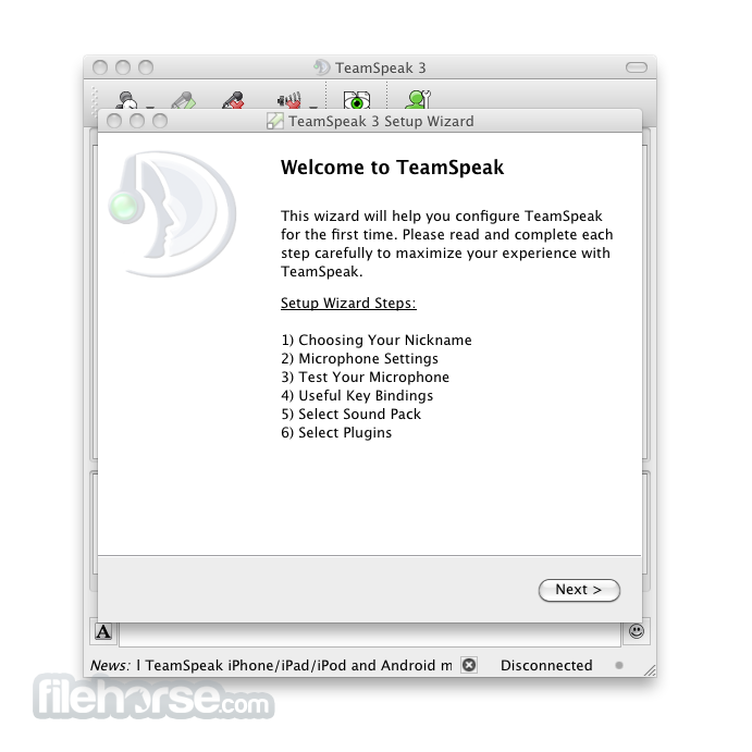 TeamSpeak Client 3.0.9.1 Screenshot 1