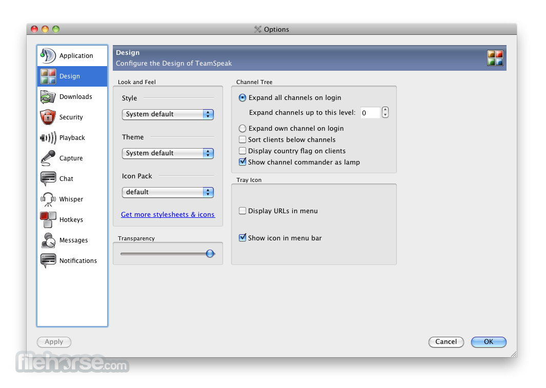 TeamSpeak Client 3.0.9.1 Screenshot 4