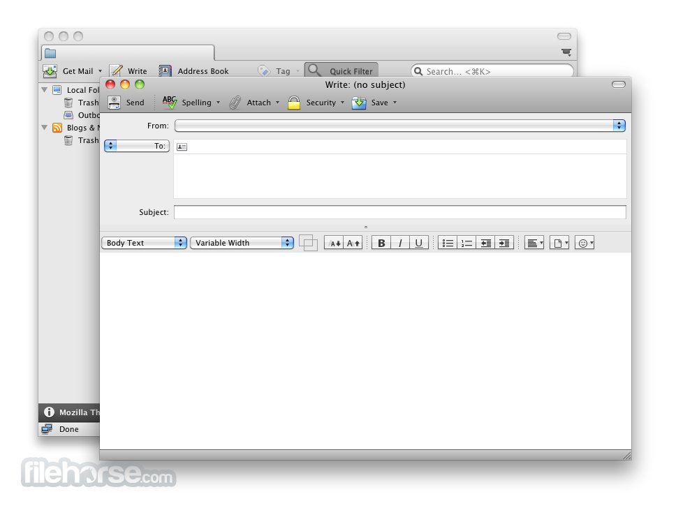 Thunderbird 52.0 Screenshot 5