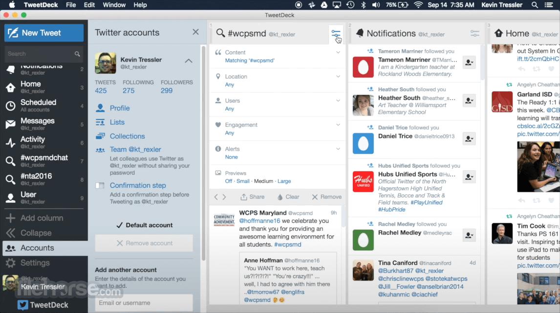 TweetDeck 3.18 Screenshot 3