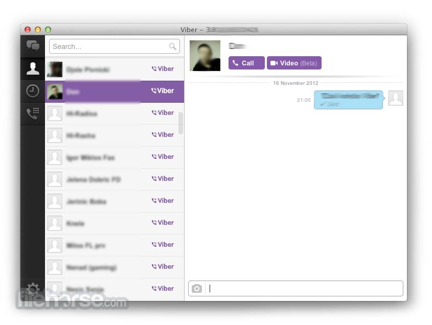 Viber for Mac 7.9.5 Captura de Pantalla 1