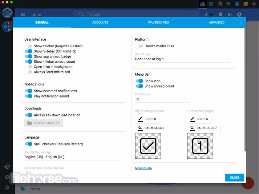 Wavebox 10.0.442 Screenshot 3