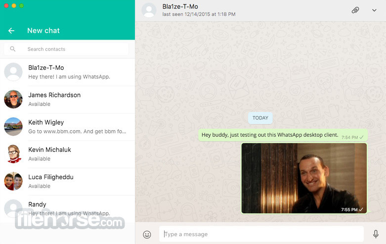 WhatsApp for Mac 2.2031.5 Screenshot 1