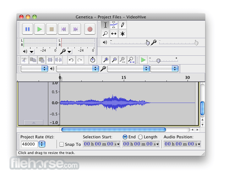 Audacity 2.0.0 Screenshot 1