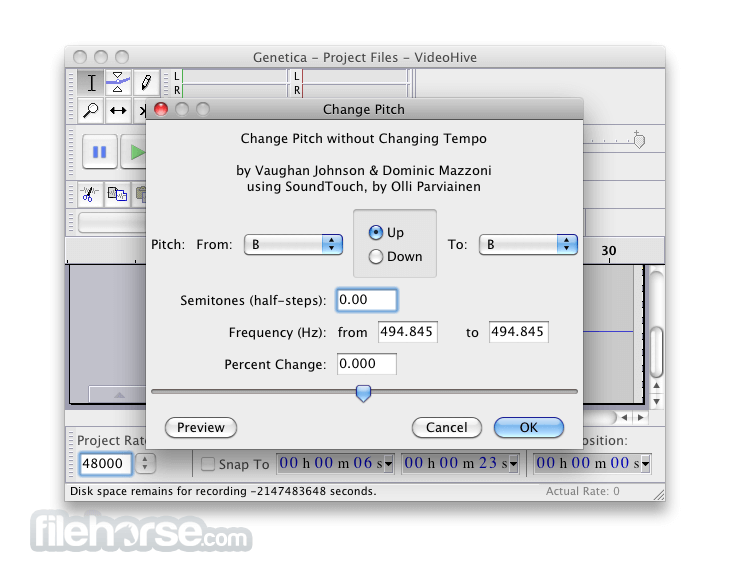 Audacity 0.95 Screenshot 5