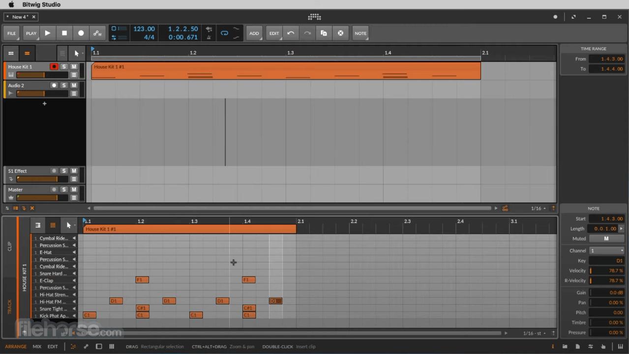 Bitwig Studio 3.3.7 Screenshot 1