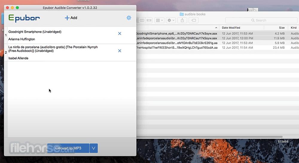 Epubor Audible Converter 1.0.10.288 Screenshot 2