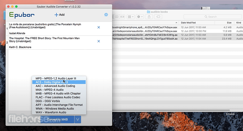 Epubor Audible Converter 1.0.10.288 Screenshot 4