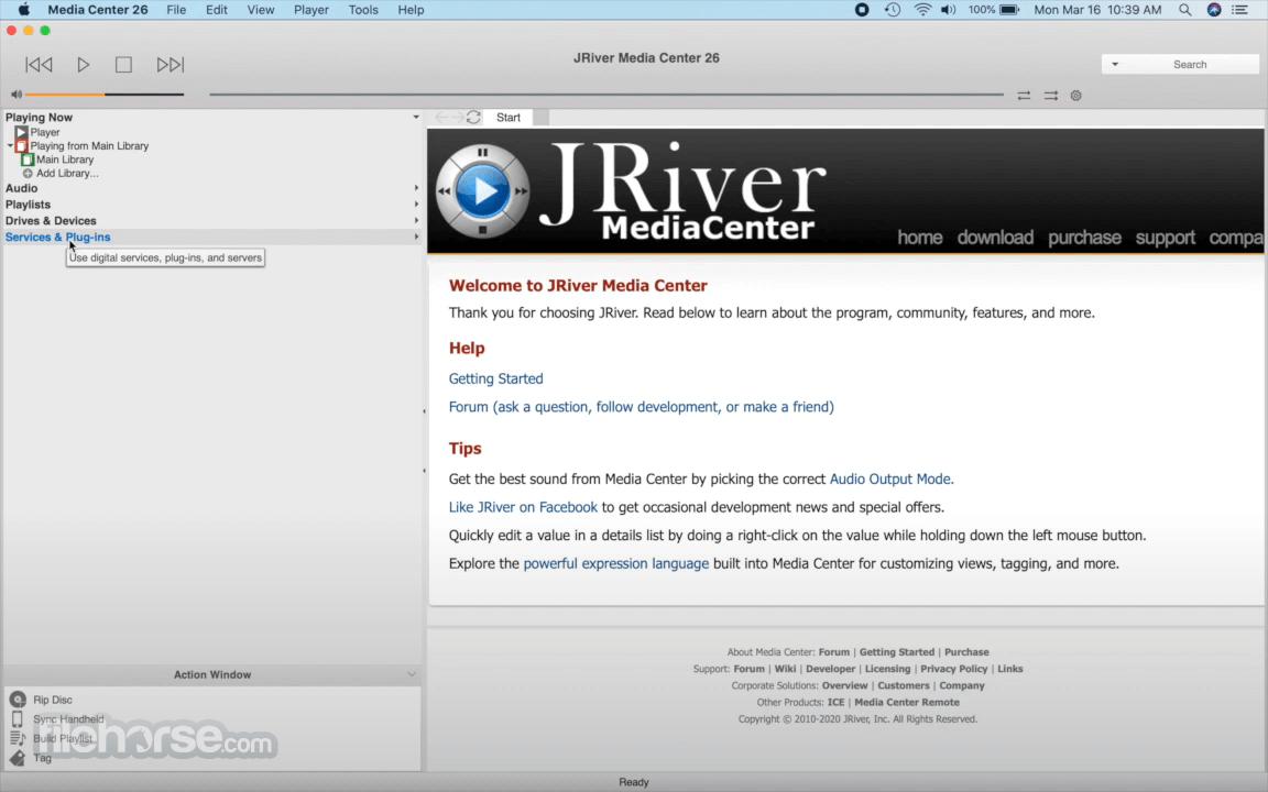 JRiver Media Center 27.0.15 Captura de Pantalla 1