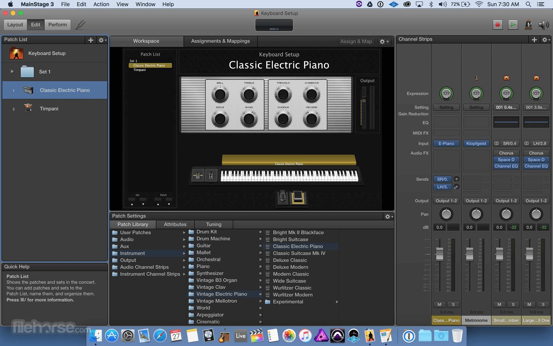 MainStage 3.5.2 Screenshot 1