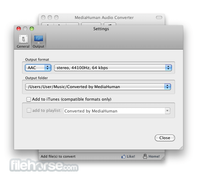 MediaHuman Audio Converter 1.7.1 Screenshot 3